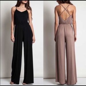 Other - Soft Stretchy Jumpsuit- BLACK